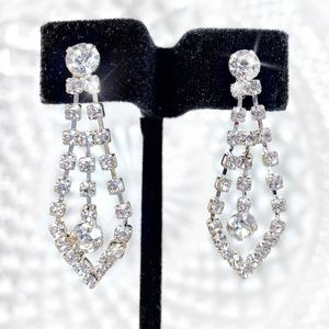 Classic Formal Rhinestone Occasion Earrings